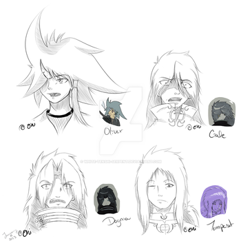 some ocs by White-Tenshi-Serpent