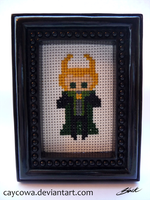Loki (the first) cross stitch by caycowa