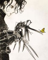 Edward Scissorhands Anime Drawing by Kongzilla2010