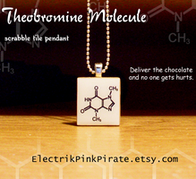 Chocolate molecule pendant by ElectrikPinkPirate