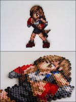 Final Fantasy 7 Tifa bead sprite by 8bitcraft