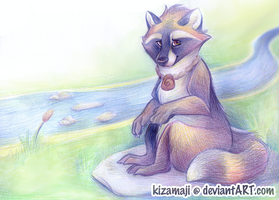 Relaxing by the Stream by bawky