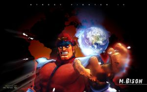 M.Bison Street Fighter IV by F-1