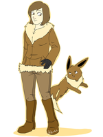 Eevee and me by Valkinerie