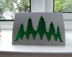 Green Pine Trees Card by ladysilver2267