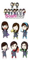 SoShi Rangers Stickers by soshified