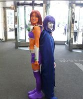 Raven and Starfire Cosplay by ForAllEternitie