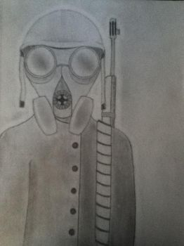 WWI gas mask soldier by hollywood16