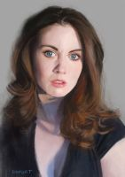 Alison Brie portrait by ROPART