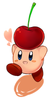 Kirby and the Giant Cherry by IceValaxy