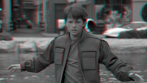 Marty McFly in 3-D by MVRamsey