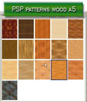 psp patterns wood a5 by feniksas4