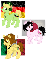 APH: Nyo! Axis ponies c: by AsuruiHiane