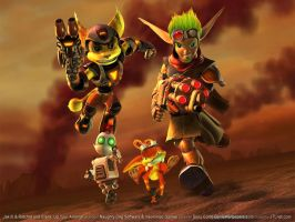 Rachet and Jak by rayquaza2012