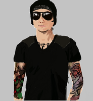 Synyster F*cking Gates Painting by foREVerA7Xfan