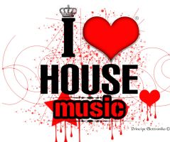 """I Love House Music"" by 88pixels"