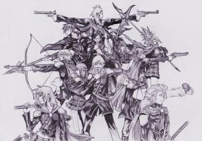 Final Fantasy Type 0 by margarethere