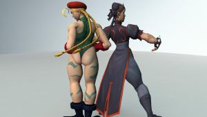 Chun li Cammy back 2 back by angeldad83