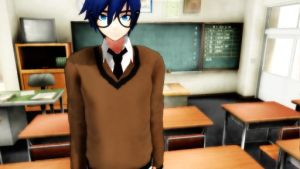 Kaito - School time -  WIP by BlackBlueAndSilver