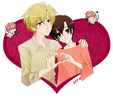 Ouran: Happy Valentine's Day by fortykoubuns