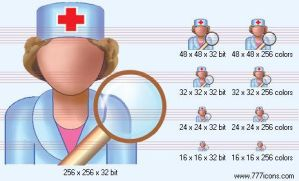 Search doctor Icon by medical-icon-set