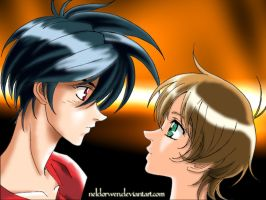 Staring at each other by Neldorwen