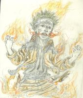 Naruto's Flaming Rage by clayic