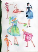 Figurines 60s by MuyCelestial