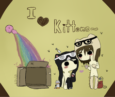 The Kawaii Kittens by gALECsy