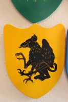 Yellow Griffin Shield Stock by BeccaB-Stock-N-Art