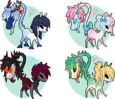 Teeny Primal/Cow Plant Ponies Auction (CLOSED) by Glitternaut