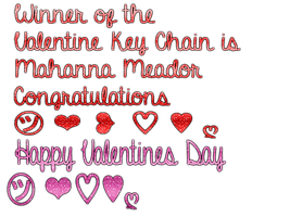 Winner of the Valentine Key Chain by MaddieLovesSelly