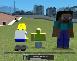 Blockland and Roblox and Minecraft by felipe1355