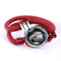Cyberpunk Ring red by CatherinetteRings