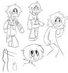 [not ATG5] Day 4 - Various Doodles of Citrine by Fuzzlepuzzle