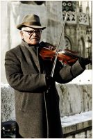 Street Violin by Gil-Levy