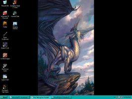Silver Dragon Desktop by shadowklaw