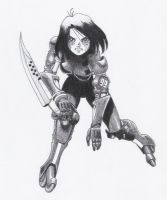 Alita the rollerball player by correcaminos74