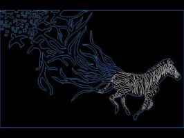 zebra walpaper blue2 by butterflywisper