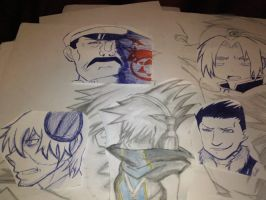 Stein, Neku, Greed, Ed y Wrath by XSoul-ArtistX