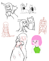 Princess Bubblegum sketch dump by cheeseblade