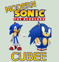 Modern Sonic Cubee by mikeyplater