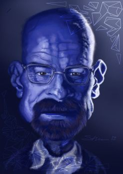 Walter White - A study in blue by realgumption