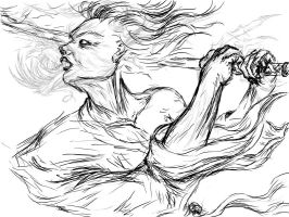 The Dragon Within - sketch 3 by giorjoe