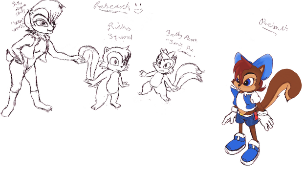 Sally Acorn redesign process by Gothic-Ruby