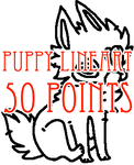 transparent pup lineart - 50 points by levitzky