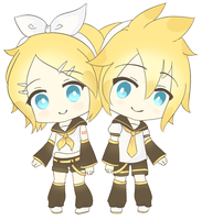 Kagamine Twins by iekika-bp