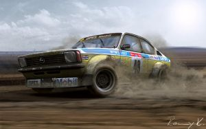 Opel Kadett- Rally by RKGrafixx