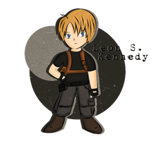 Chibi Leon S. Kennedy by Shiro-Redfield