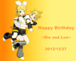 Happy Birthday Rin and Len 2012 by brsa